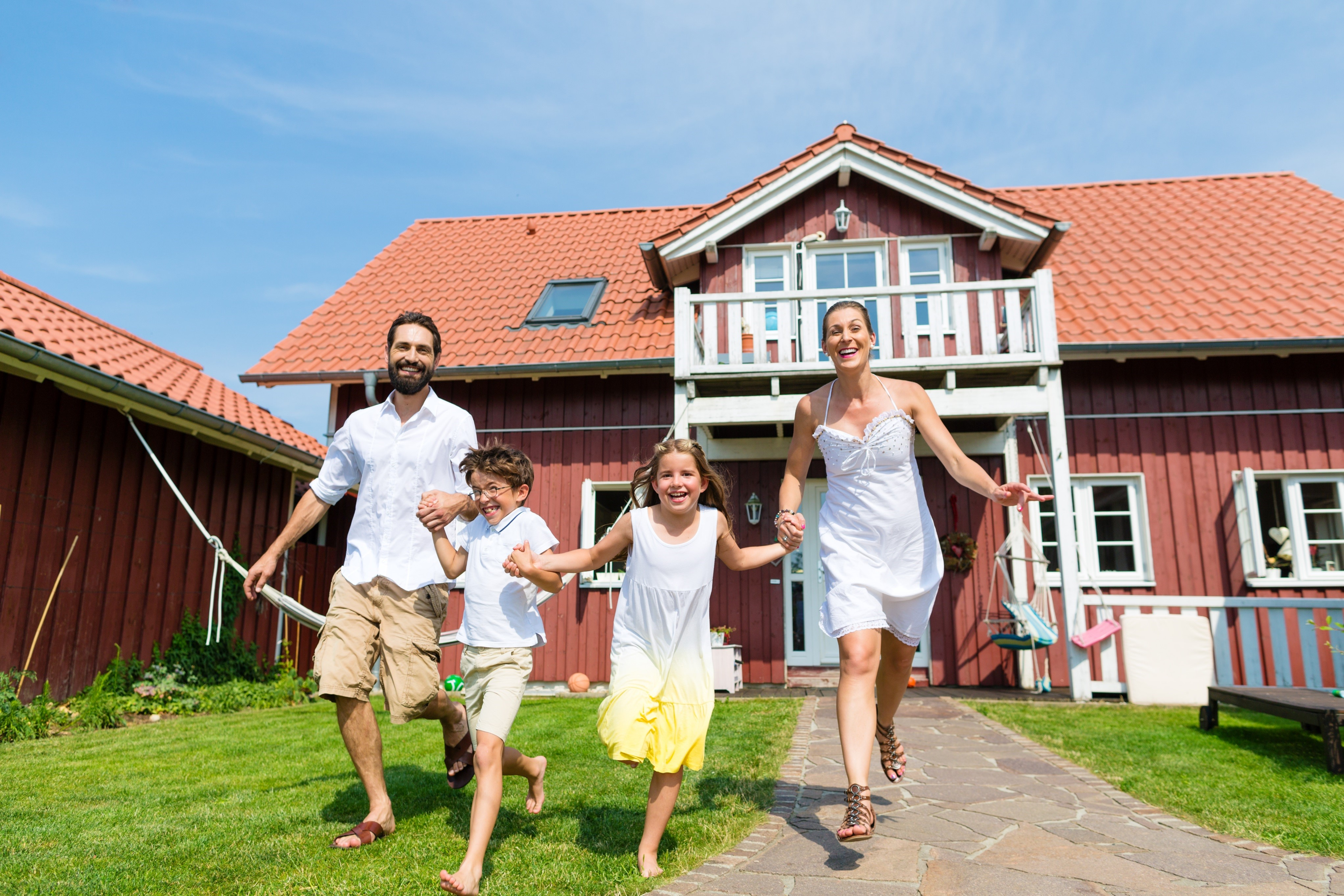 Happy Family relocation in Europe