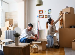 Couple renting home in UK